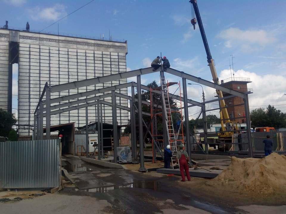 Монтаж здания дезбарьера компанией ВВМ