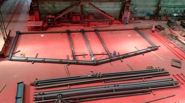 Изготовление здания дезбарьера на заводе ВВМ