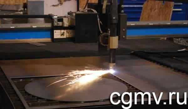 Процесс резки металла на плазменном станке