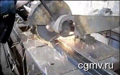 Абразивная резка металла в цеху ВВМ