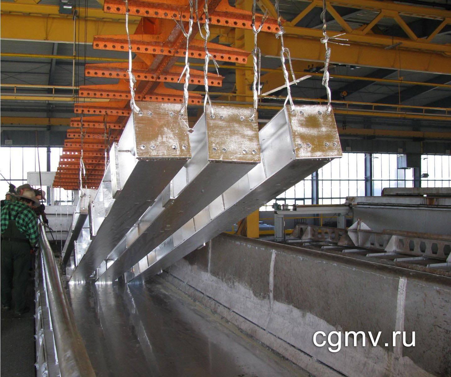Цинкование металла в цеху
